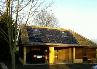 Zonnepanelen kopen schuin dak